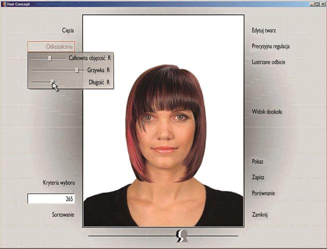 Hair Concept Program Do Projektowania 1100 Fryzur Wersja Dla Szkół 11 Stanowisk